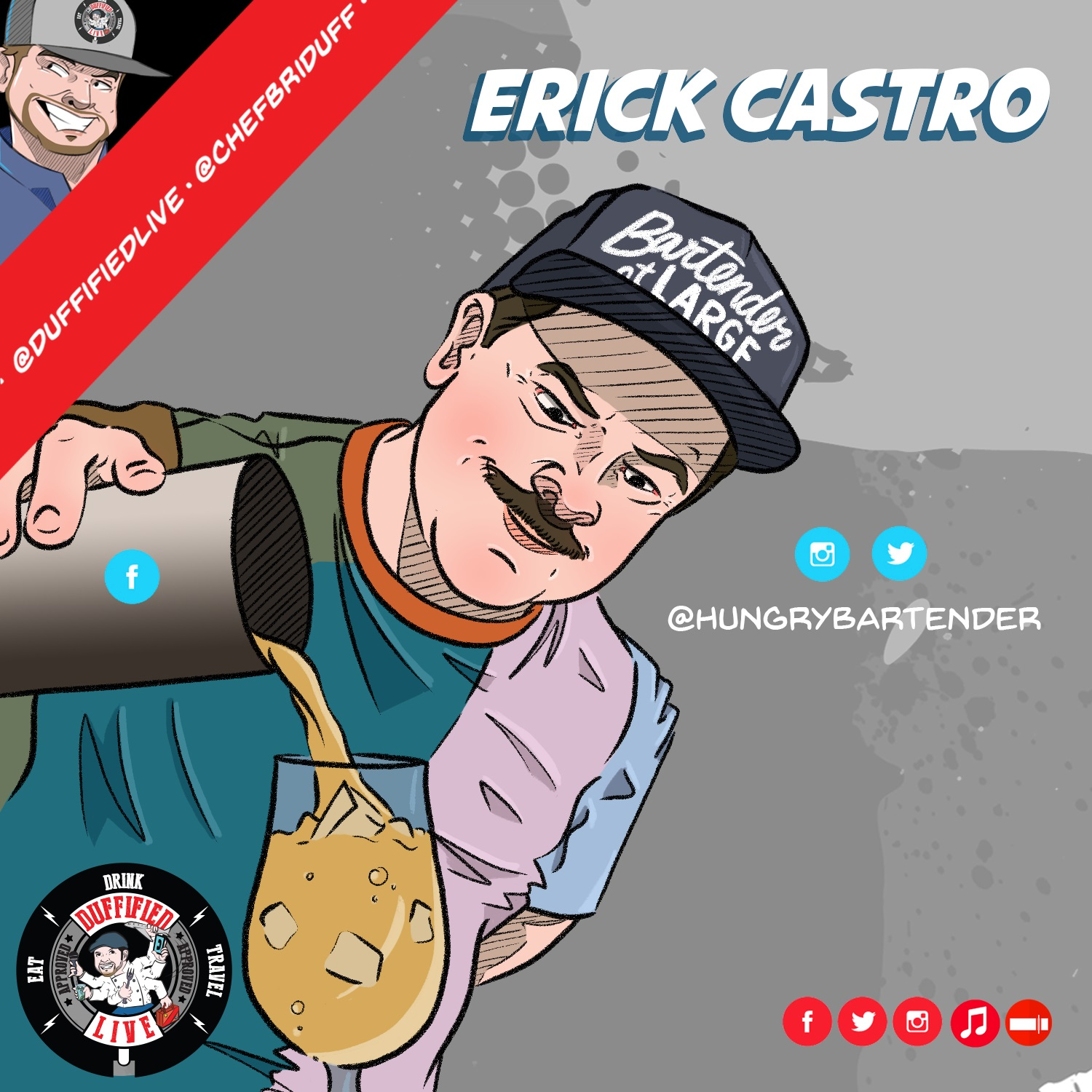 """""""The Hungry Bartender"""" Erick Castro"""