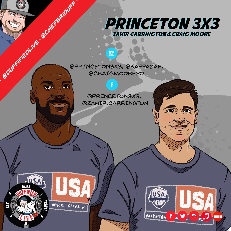 Zahir Carrington & Craig Moore of the Princeton 3X3 Basketball Team